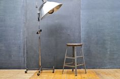 Vintage Industrial Angle Steel STOOL : 20th Century Vintage Industrial Modern50 Style