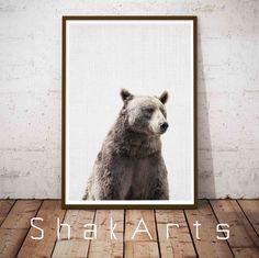 Nursery Wall Art Bear Print Animal Photo Bear Photo by ShakArts