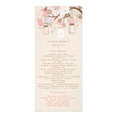 Beautiful delicate Summer's Dream Wedding Program Customized Rack Card by sweetrascal