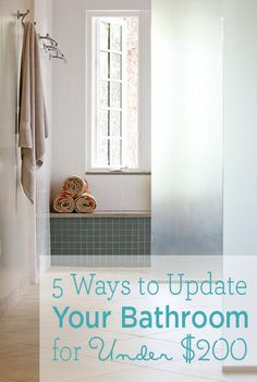 Getting ready to sell or simply want an update? Here are some inexpensive ideas for your bathroom.