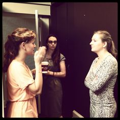@abbybouchon and other interns work on door duty for the exclusive Lisa Gersh Founders Breakfast.