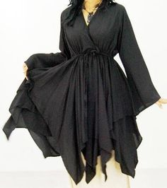 f7fb7aa15fc BLACK BLOUSE TOP LAYERED - FITS (ONE SIZE) - L 1X 2X - A246S LOTUSTRADERS  LOTUSTRADERS.  47.99