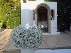 Στολισμός Γάμου - εξωτερικοί χώροι Garland, Wedding Planner, Wedding Decorations, Outdoor Decor, Plants, Home Decor, Vintage, Wedding Planer, Decoration Home