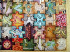 high school art lessons | High School Lesson Inspiration / Altered puzzle - class project-day 1 ...