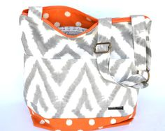 Camera Bag upholstery weight designer fabric in Grey by DarbyMack