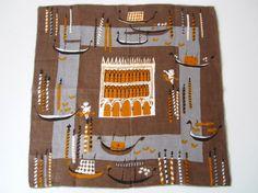 Vintage Handkerchief VENICE Pat Prichard by NeatoKeen on Etsy, $48.00