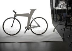 Urban Origami Bike    TheRollin' bike design focuses on two of important features helpful to the urban commuter: a stylish, super-lightweight body and a stationary lock integrated into the frame. The frame, which takes more inspiration from contemporary interior design than sporting design, is laser cut from a single sheet of aluminum that has been folded for added stability. The integrated lock is an easy and accessible way to ensure the bike will never go without protection from theft.