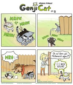 It's howl noon….  :D GenjiCat is gonna be a miniseries within TPG! Gonna update Fridays until I run out of ideas~