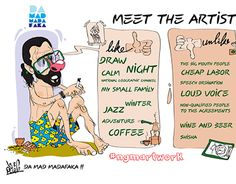 "Check out new work on my @Behance portfolio: ""meet the artist"" http://be.net/gallery/49361563/meet-the-artist"