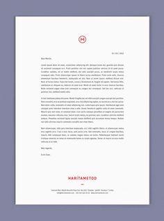 HaritaMetod Identity #letterhead