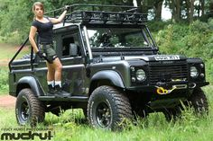 defenderladies: Land Rover Defender and woman