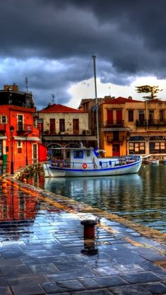 Greece, Rethymno Harbour in Crete