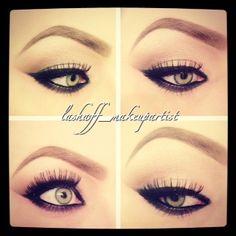 eyeliner winged liner green eyes instagram lashaff_makeupartist