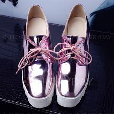 Zapatos - $59.06 - De mujer Cuñas Cerrados Tacones Tipo de tacón Cuero Zapatos…