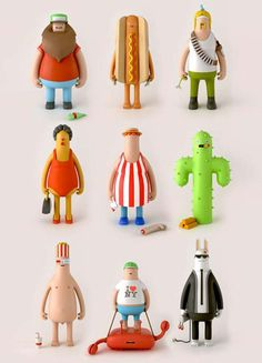 Toy characters from YumYum London.