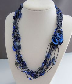 Multi Strand Micro Macrame Necklace with Sherri Stokey #craftartedu