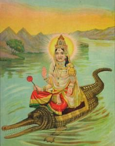 Akhilandeshvari Rides A Crocodile | Devi Wears Prana  ~~ this may be an integral part of my big back piece.... hm....