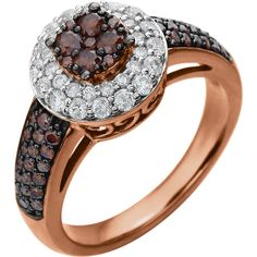 Designer Engagement Ring with color diamonds