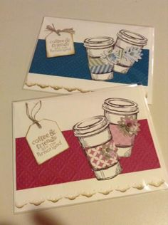 Friends & Coffee by stampincyndi2003 - Cards and Paper Crafts at Splitcoaststampers