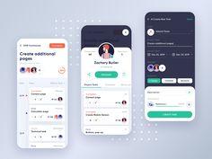 Project Management App Concept 2 by Leonid Arestov for Awsmd on Dribbble Mobile App Design, Mobile Ui, Mobile Code, App Ui, Ui Ux, Ipad, Ui Design Inspiration, Daily Inspiration, Health App