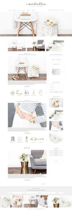 Isabelle - E-Commerce Theme by Bella Creative Studio on @creativemarket
