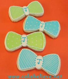 Bow Tie Cookie Favors Bow Tie Cookies, Fun Cookies, Decorated Cookies, Sugar Cookies, Baby Boy 1st Birthday, Boy Birthday Parties, Birthday Ideas, Sprinkle Party, Baby Sprinkle