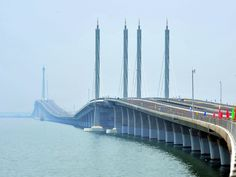 The Qingdao Haiwan Bridge, connecting the city of Qingdao in Eastern China's Shandong province with the suburban Huangdao District across the waters of the northern part of Jiaozhou Bay, is the longest bridge over water.