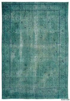 This over-dyed Persian vintage rug is a celebration of both past and present. Created using a technique employed to breathe new life into older…