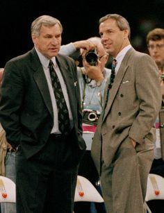 Dean Smith and Roy Williams Basketball Coaching Icons