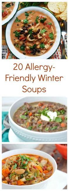 20 Allergy-Friendly Winter Soups to Warm Up With (Vegan Crockpot Curry) Egg Free Recipes, Allergy Free Recipes, Healthy Soup Recipes, Crockpot Recipes, Lunch Recipes, Dinner Recipes, Delicious Recipes, Top Food Allergies, Winter Soups