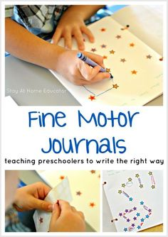 Teaching Preschoolers to Write Using Fine Motor Journals