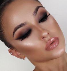 40 Fascinating Simple Smokey Eyes Makeup Ideas - Make UP Ideen Eye Makeup Tips, Glam Makeup, Makeup Inspo, Makeup Inspiration, Beauty Makeup, Face Makeup, Makeup Ideas, Makeup Tutorials, Full Face Of Makeup