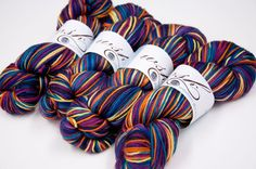 "SALE - Magnolia DK Yarn (MCN - Superwash Merino/Cashmere/ Nylon 80/10/10) in ""Rainbow Night"""