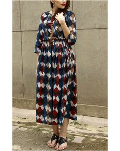 Shop online Indigo classic block dress Classic style indigo cotton block printed dress is perfect for your day outing. This dress is classic and will definitely make heads turn Cute Maternity Dresses, Maternity Wear, Indian Dresses, Indian Outfits, Western Dresses, Western Wear, Indian Designer Outfits, Designer Dresses, Kurta Style