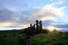 Estatuas de piedra de la Isla de Pascua