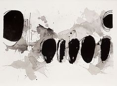 dailyartjournal: Thérèse Murdza, Untitled, sumi ink on paper Abstract Watercolor, Watercolor And Ink, Abstract Art, Abstract Paintings, Monochromatic Art, Black And White Abstract, White Art, Sumi Ink, Art Sketchbook