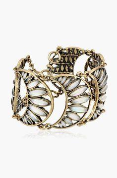 Lucky Brand Set Stone Flex Link Bracelet