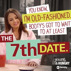 The dating game! | Young & Hungry Quotes