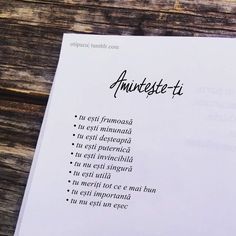 aminteste-ti Utila, Beautiful Words, Happy Life, Cool Words, Texts, Life Quotes, Qoutes, Mindfulness, Cards Against Humanity