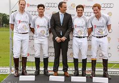 Princes William and Harry team up for Ascot charity polo match in front of celebs | Mail Online