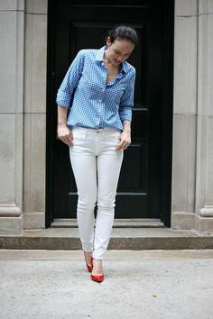 White jeans