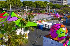 """Portraits of Hope - Ice Skating Rink public art project - """"Ice at Santa Monica"""""""