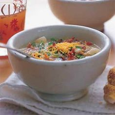 Baked Potato-and-Bacon Soup | MyRecipes.com #MyPlate #vegetable
