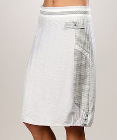 Love this Light Gray Noemie A-Line Skirt by L33 by Virginie&Moi on #zulily! #zulilyfinds