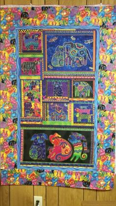 Laurel Burch panel and fabric borders