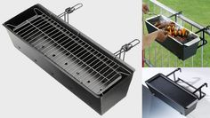 barbecue balcony BBQ for your balcony in diy with kitchen Garden Flowers BBQ Not really recycled but still a great & creative use ! Patio Grill, Bbq Grill, Grilling, Coal Grill, Hibachi Grill, Apartment Balcony Decorating, Apartment Balconies, Balcon Grill, Deco Dyi