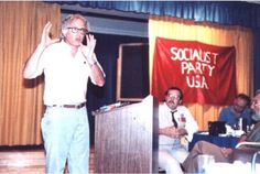 Bernie Sanders at a meeting of the Socialist Party U.S.A. Circa 1983