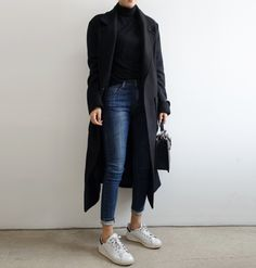 Sneakers Adidas Outfit Death For 2019 Street Style Outfits, Mode Outfits, Fall Outfits, Casual Outfits, Fashion Outfits, Jean Outfits, Womens Fashion, Winter Coat Outfits, Black Outfits