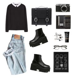 """""""The mean art student"""" by cooltured on Polyvore featuring moda, WithChic, MANGO, Fuji, ZeroUV, Mudd, Danielle Foster y NARS Cosmetics"""