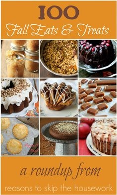 100 Fall Recipes - Reasons To Skip The Housework...pin now, read later! #fall http://thebigclockstore.com/category/blog/